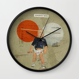 Jukebox Hero | Collage Wall Clock