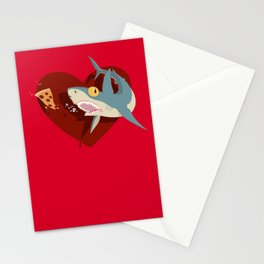 Pizza Shark Stationery Cards