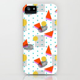 Clutch - retro minimal geometric memphis trendy pattern gifts 80s style 1980's vibes iPhone 11 case