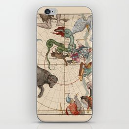 Pictorial Celestial Map with Constellations Ursa Major and Ursa Minor iPhone Skin