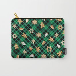 Gingerbread Green Carry-All Pouch