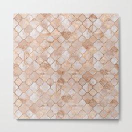 Quatrefoil Moroccan Pattern Pastel  Quartz Metal Print