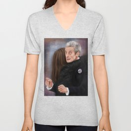 12th Doctor - Not a hugging person Unisex V-Neck