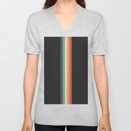 Racing Team Monaco - Minimal Retro Look Stripes Unisex V-Neck