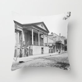 Chartres Street, Vieux Carre, New Orleans, Louisiana 1906 Throw Pillow