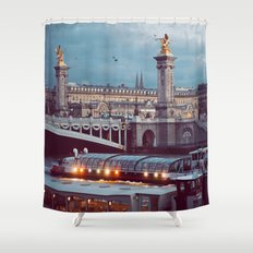 Paris lights. Shower Curtain