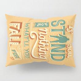 Make a stand Pillow Sham