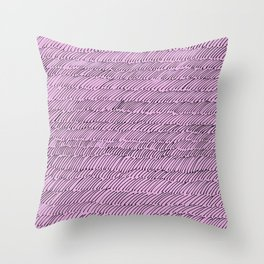 Penstrokes on Pink Throw Pillow