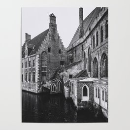 ONCE UPON A TIME (graphite) / Bruges, Belgium Poster