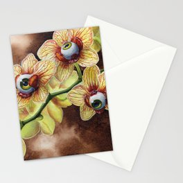 All Seeing Eyeball Orchid Stationery Cards
