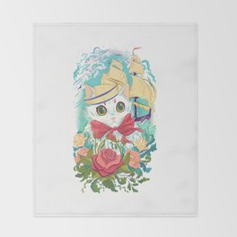 Sailor Kitty Throw Blanket