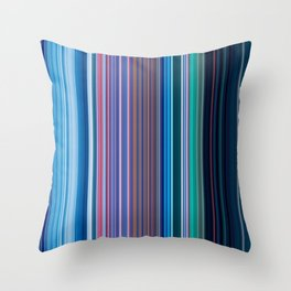 Abstract Vertical Modern mixed stripes v1 Throw Pillow