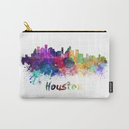 Houston skyline in watercolor Carry-All Pouch