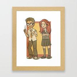 James Potter and Lily Evans Framed Art Print