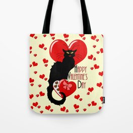 Le Chat Noir with Chocolate Candy Gift Tote Bag