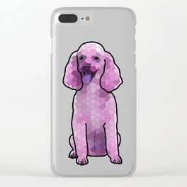 Poodle in Amethyst Mosaic Clear iPhone Case