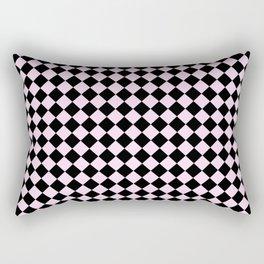 Black and Pink Lace Pink Diamonds Rectangular Pillow