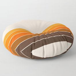 Golden Spring Stripes Floor Pillow