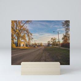 Main Street, Denhoff, North Dakota Mini Art Print