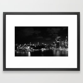 Sidney by night Framed Art Print