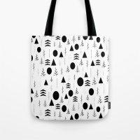 alisa burke Tote Bags featuring Warli Painting by 83 Oranges™