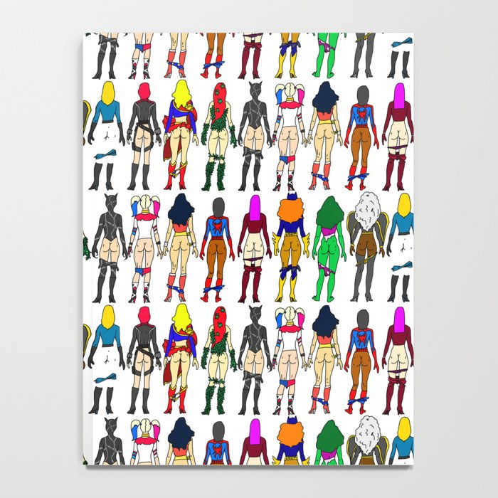 Superhero Butts - Girls - Row Version - Superheroine Notebook