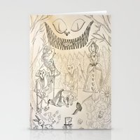 alice in wonderland Stationery Cards featuring Wonderland  by Jgarciat