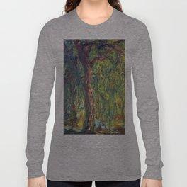 1918-Claude Monet-Weeping Willow-99 x 120 Long Sleeve T-shirt