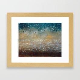 Landscape Dots - Turquoise Framed Art Print