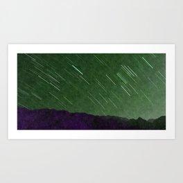Juniper Skies with Shooting Stars Art Print