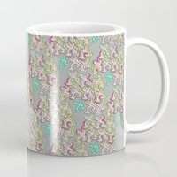 keith haring Mugs featuring Haring Squiggle by Indigo Images
