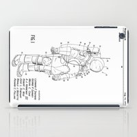 nasa iPad Cases featuring NASA Space Suit Patent  by Elegant Chaos Gallery