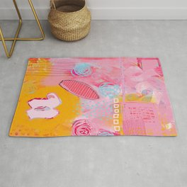 story of N - abstract painting Rug