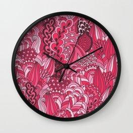 Paisley Pop Tangle #6 Wall Clock