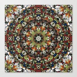 Boho Geometric Mandela Pattern 1 Canvas Print