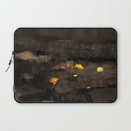 Abstract landscape nature texture lava fire geology digital illustration Laptop Sleeve