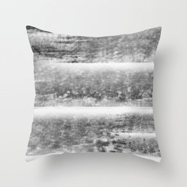 """Levels - Black and White"" Throw Pillow"