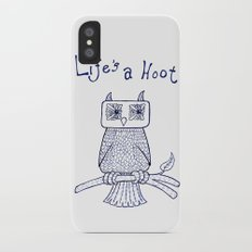 Life's a Hoot Slim Case iPhone X