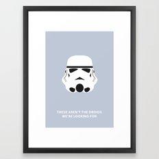 Star Wars Minimalism - Stormtrooper Framed Art Print