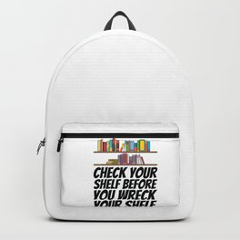 Books - Check your shelf Backpack
