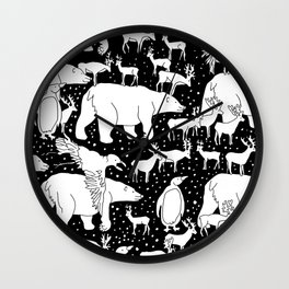 Polar gathering Wall Clock
