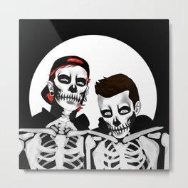 skeleton tyler n josh Metal Print