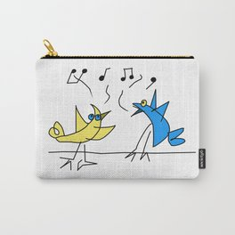 Two Birds Singing Carry-All Pouch