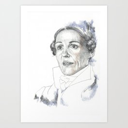 A Yorkshire Lady of Renown Art Print