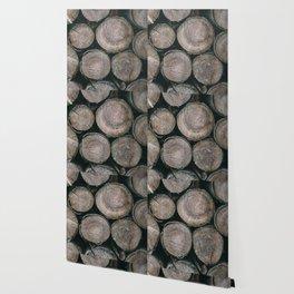 Log Ends Wallpaper
