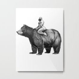 Bear Ride Metal Print
