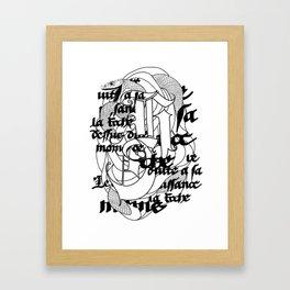 The Serpent Framed Art Print