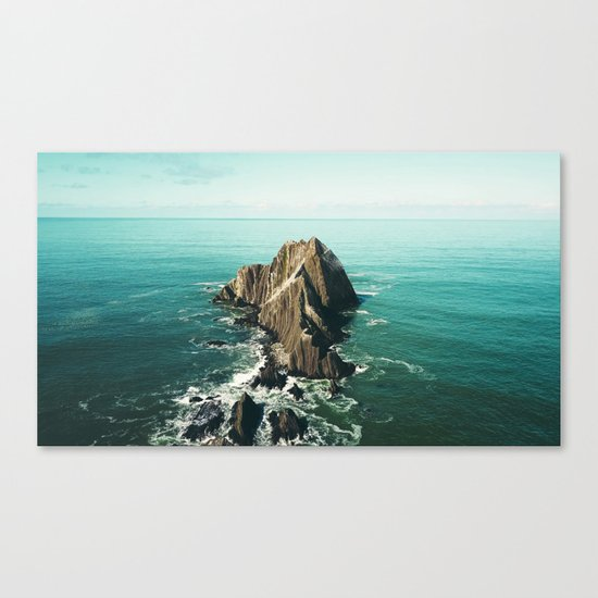 Island green sea Canvas Print