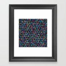 Stardust Geometric Art Print. Framed Art Print