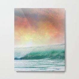 Sunset on the waves Metal Print